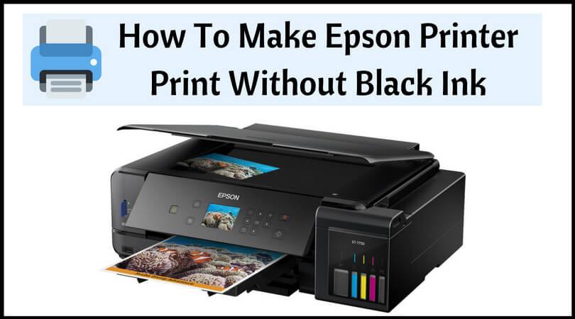 make printer print without black ink