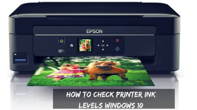 How to Check Printer ink Levels Windows 10