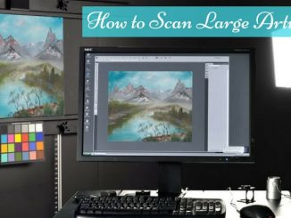 how to scan large artwork