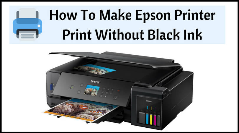 make printer print without black ink