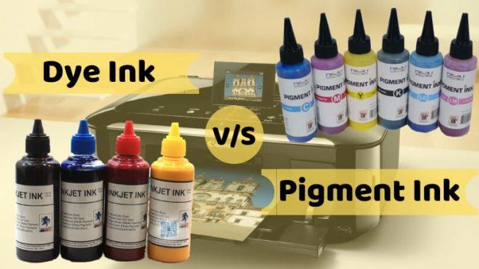 Dye Ink vs Pigment Ink